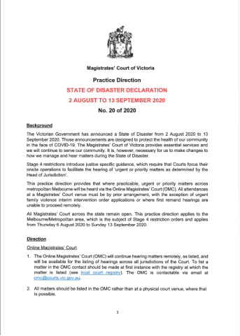 PD 20 of 2020 - State of Disaster Declaration